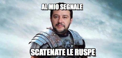 Salvini, sgomberi